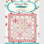 Sew Cherry Fabric Cherries on White..