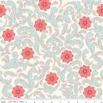 Verona French Fabric Damask Rouge f..