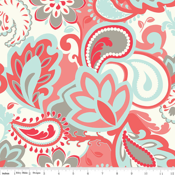 French Verona Fabric Rouge from Riley Blake Designs